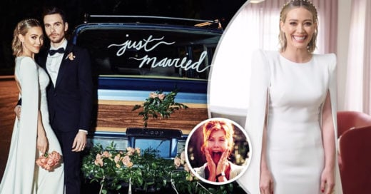 Hilary Duff finalmente se casó; las fotos de su boda son hermosas
