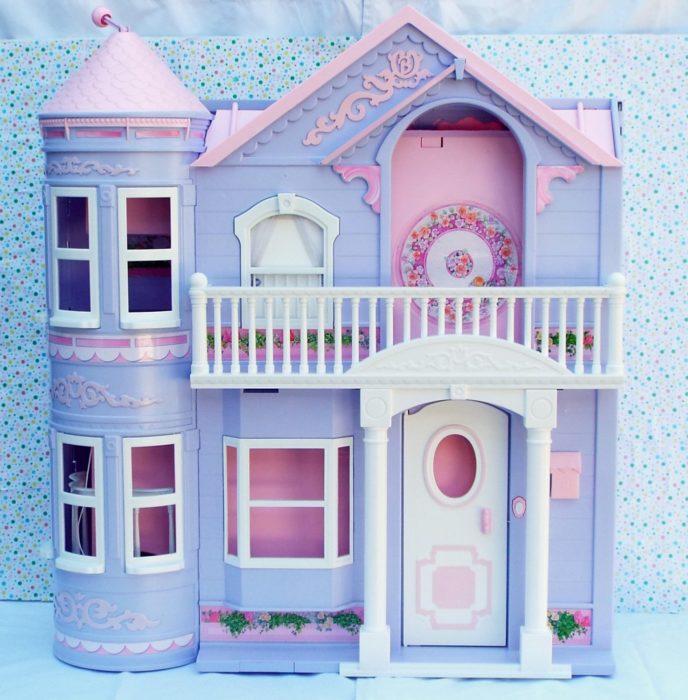 Casa dream de barbie en color rosa con morado