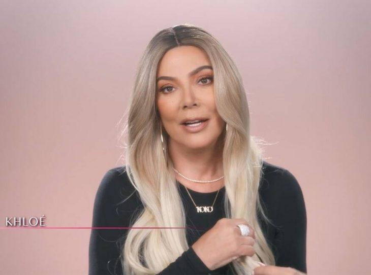 Kris Jenner disfrazada como Khloé Kardashian