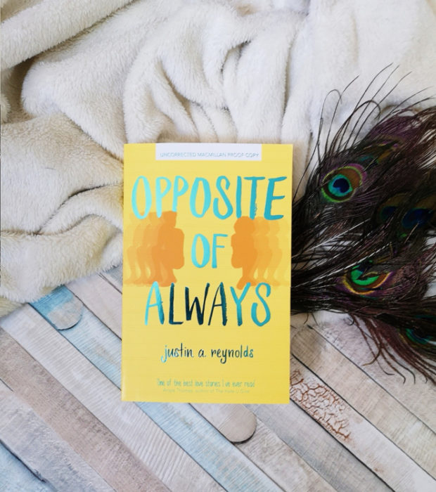Portada del libro Opposite of Always de Justin A. Reynolds.