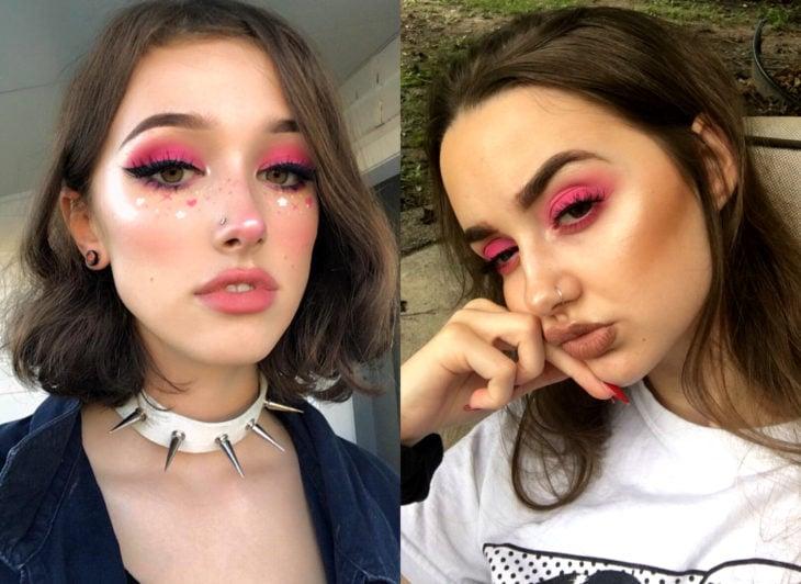 Maquillaje que será tendencia en 2020 según Pinterest; smokey eyes rosa
