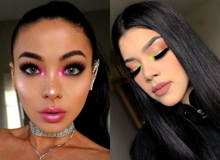 Maquillaje que será tendencia en 2020 según Pinterest; lagrimal color neón