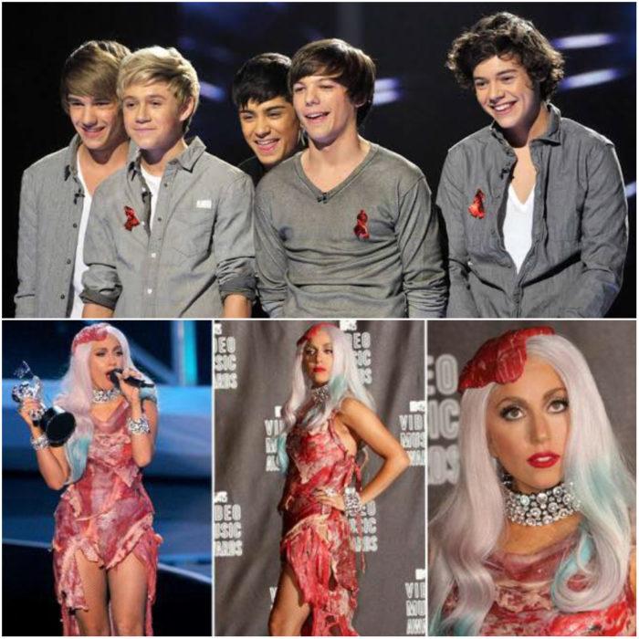 One Direction en The X Factor y Lady Gaga