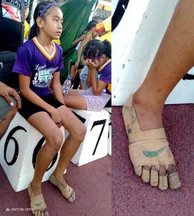 Rhea Bullos, niña filipina, hace sus propios tenis Nike con cinta adhesiva y gana 3 medallas de oro en atletismo