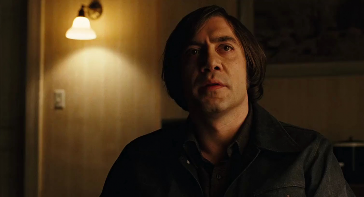 Javier Bardem caracterizado para la película country for old man