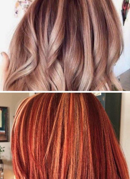 Comparación del tono de cabello que quería una chica vs el rojo intenso que le dejó la estilista