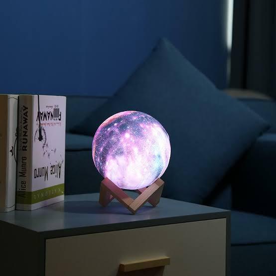 lámpara led de acrílico en forma de luna