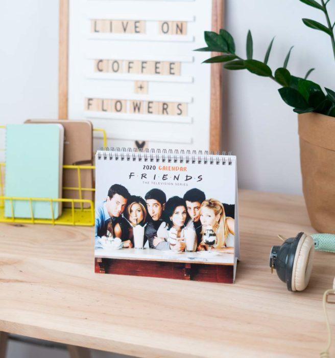 Calendario 2020 con fotos de la serie Friends