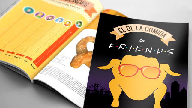 Libro con recatas de cocina de la serie Friends