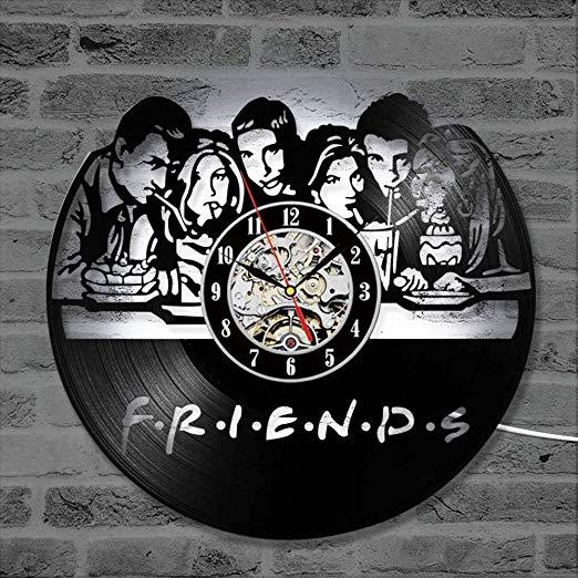 Disco de acetato como cuadro de Friends