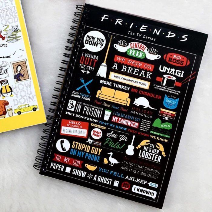 Libreta de notas de la serie Friends