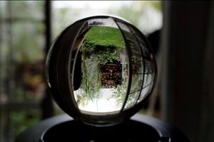 Bola de cristal para que puedas decorar un espacio y tomar fotografías