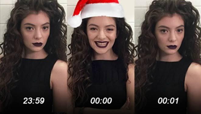 Lorde sonriendo y seria para una sesión de fotos