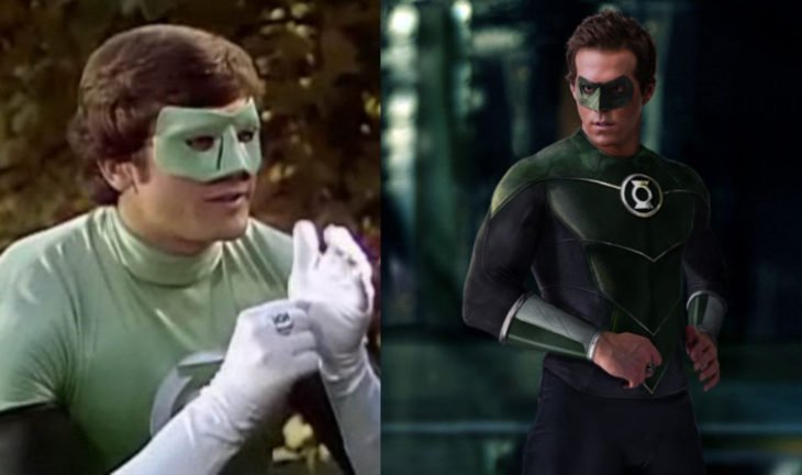 Linterna verde en su primera aparición en televisión vs en cine