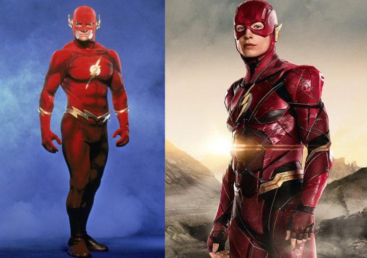 Flash antes y después de su aparición en televisión VD. en la película