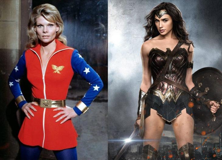 Wonderwoman en n su primera aparición en televisión vs en cine