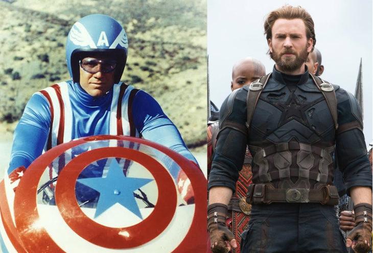 Capitan america n su primera aparición en televisión vs en cine