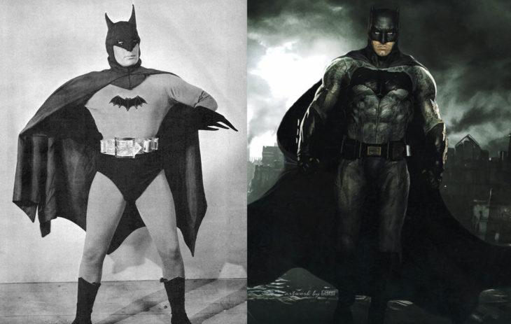 Batman en n su primera aparición en televisión vs en cine