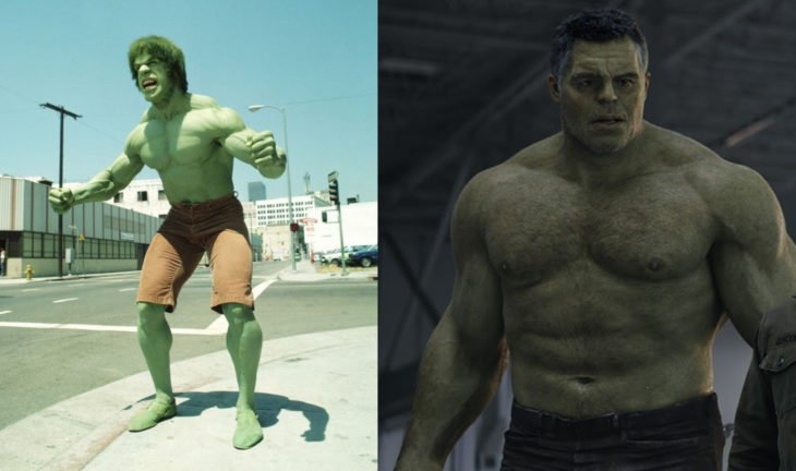 Hulk en n su primera aparición en televisión vs en cine