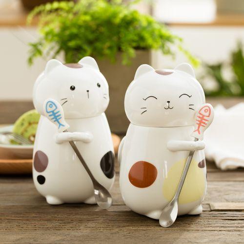 Taza en forma de gatitos