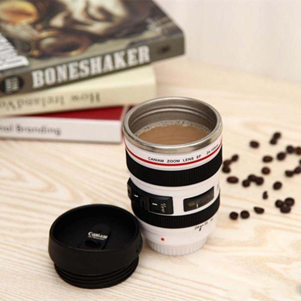 Termo en forma de lente de cámara