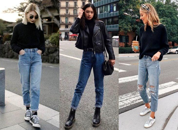 Tipos de pantalones para mujer; jeans de mamá