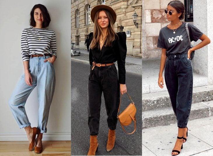 Tipos de pantalones para mujer; slouchy jeans
