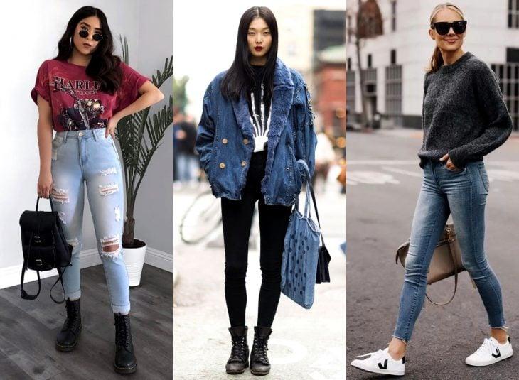 Tipos de pantalones para mujer; jeans ajustados