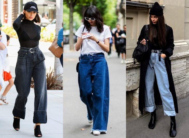 Tipos de pantalones para mujer; jeans holgados