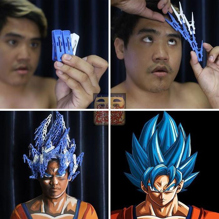 Cosplay de Anucha Saengchart como Goku
