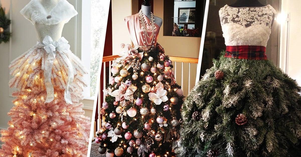 12 Árboles de maniquí que convertirán tu Navidad en una pasarela de modas