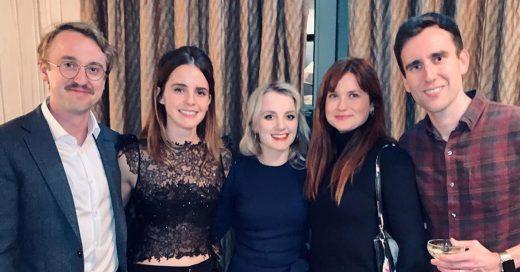Elenco de 'Harry Potter' se reúne para celebrar Navidad