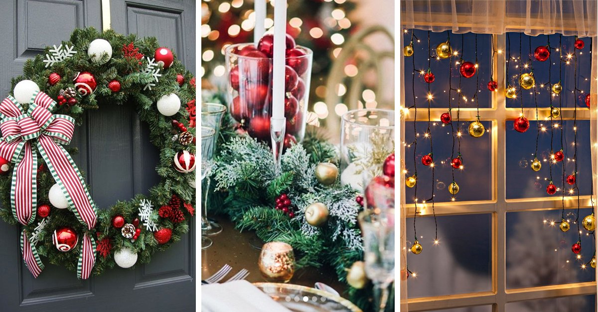10 Maneras en que puedes reutilizar tus antiguas esferas de navideñas