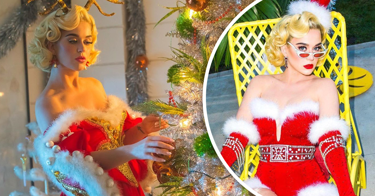 Katy Pery se está coronando como la reina de la Navidad