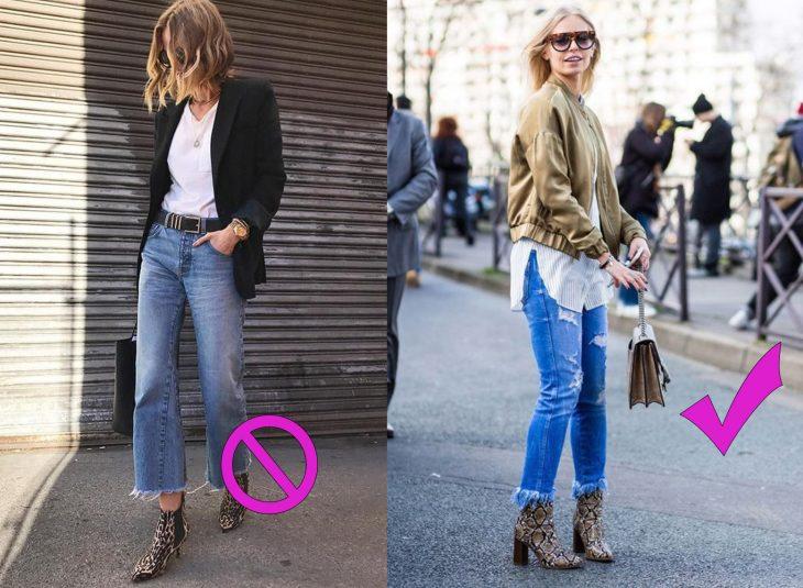 Formas adecuadas de usar unos jeans drapped