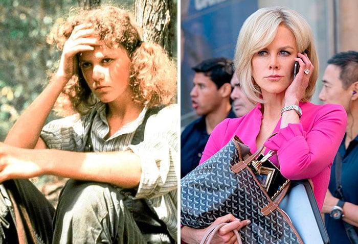 Nicole Kidman en su primer papel actoral vs el último