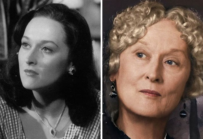 Meryl Streep en su primer papel actoral vs el último