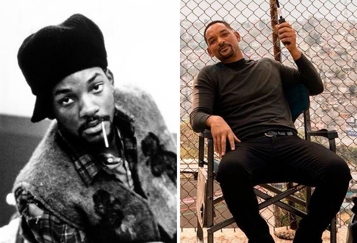Will Smith en su primer papel actoral vs el último