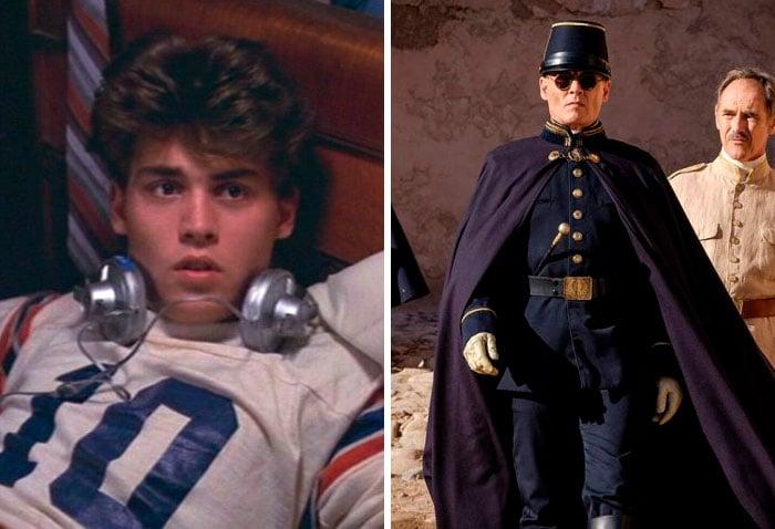 Jhonny Depp en su primer papel actoral vs el último