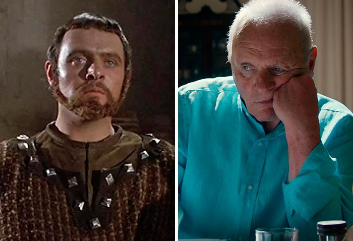 Antony Hopkins en su primer papel actoral vs el último
