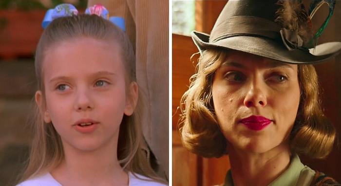 Scarlett Johansson en su primer papel actoral vs el último