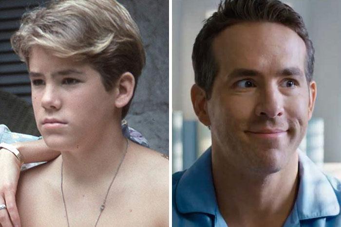 Ryan Reynolds en su primer papel actoral vs el último