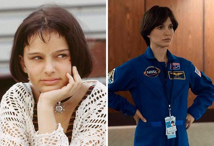 Natalie Portman en su primer papel actoral vs el último
