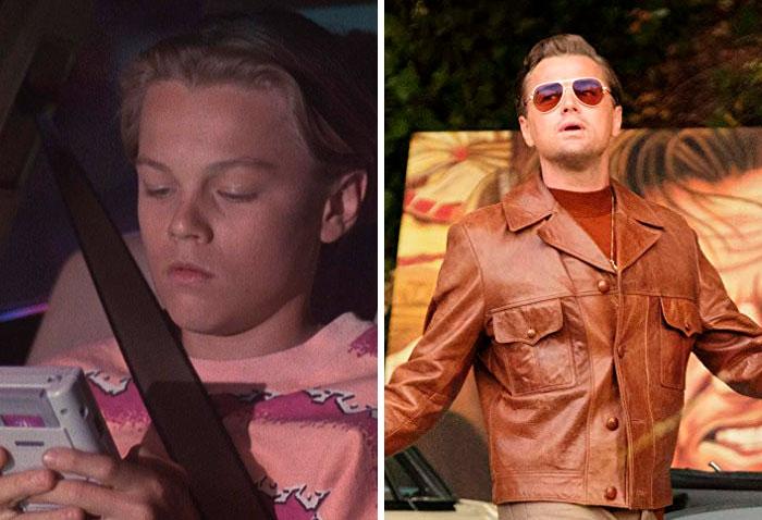 Leonardo DiCaprioen su primer papel actoral vs el último