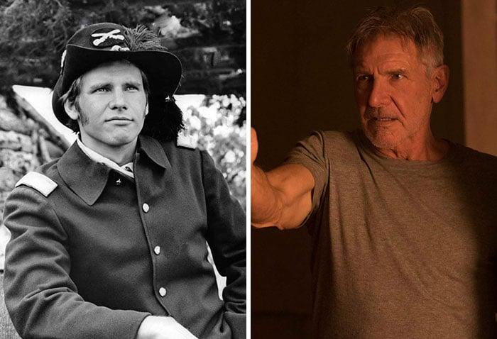 HarrIson Ford en su primer papel actoral vs el último