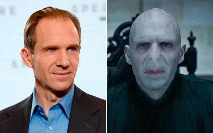 Ralph Fiennesen su papel de Lord Voldemort en Harry Potter