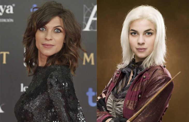 Natalia Tenaen su papel de ninfadora de Harry Potter