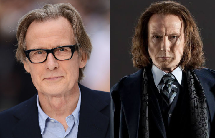 Bill Nighy interpretando su papel en Harry Potter