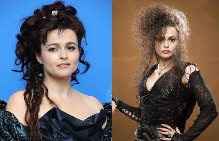 Helena Bonham Carteren su papel de bellatrix Lestrange