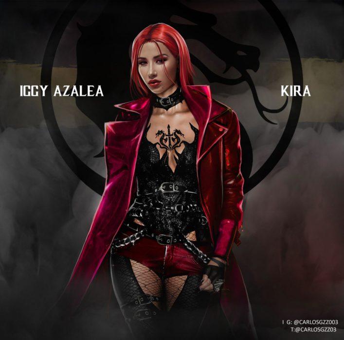 Iggy Azalea como Kira ilustrada por Carlos Gonzalez